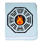 Dharma Flame baby blanket
