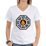 Dharma Flame Women's V-Neck T-Shirt