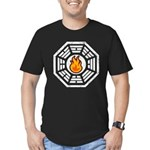 Dharma Flame Men's Fitted T-Shirt (dark)