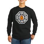 Dharma Flame Long Sleeve Dark T-Shirt