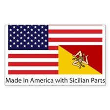 Made in America with Sicilian Sticker (Rectangle)