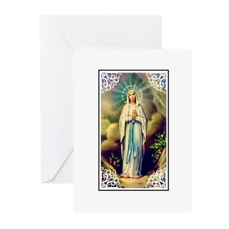 Virgin Mary - Lourdes Greeting Cards (Pk of 10
