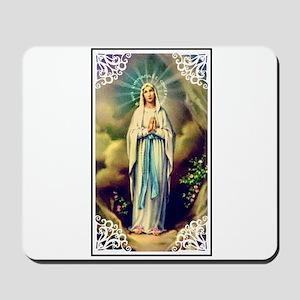 Virgin Mary - Lourdes Mousepad