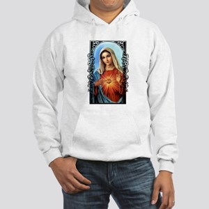Virgin Mary - Sacred Immaculate Heart Hooded Sweat
