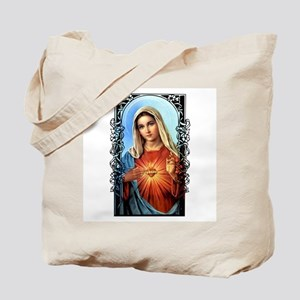 Virgin Mary - Sacred Immaculate Heart Tote Bag
