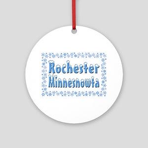 Rochester Minnesnowta Ornament (Round)