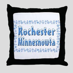 Rochester Minnesnowta Throw Pillow