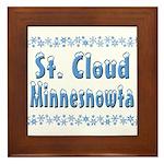 St. Cloud Minnesnowta Framed Tile