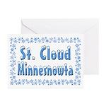 St. Cloud Minnesnowta Greeting Cards (Pk of 20)