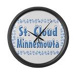 St. Cloud Minnesnowta Large Wall Clock