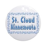 St. Cloud Minnesnowta Ornament (Round)