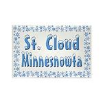 St. Cloud Minnesnowta Rectangle Magnet