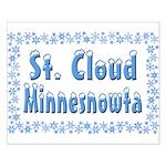 St. Cloud Minnesnowta Small Poster