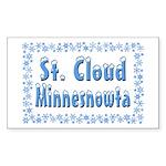 St. Cloud Minnesnowta Sticker (Rectangle 50 pk)