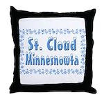 St. Cloud Minnesnowta Throw Pillow