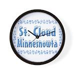 St. Cloud Minnesnowta Wall Clock