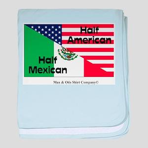 Half American-Half Mexican baby blanket