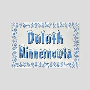 Duluth Minnesnowta Rectangle Magnet