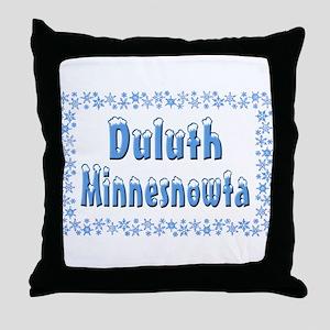 Duluth Minnesnowta Throw Pillow