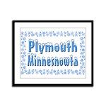 Plymouth Minnesnowta Framed Panel Print