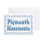 Plymouth Minnesnowta Greeting Cards (Pk of 20)