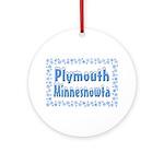 Plymouth Minnesnowta Ornament (Round)
