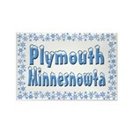 Plymouth Minnesnowta Rectangle Magnet (10 pack)