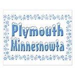 Plymouth Minnesnowta Small Poster
