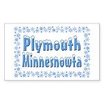 Plymouth Minnesnowta Sticker (Rectangle 10 pk)