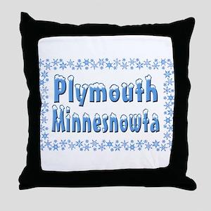 Plymouth Minnesnowta Throw Pillow