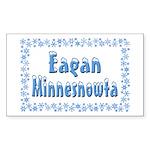 Eagan Minnesnowta Sticker (Rectangle 10 pk)