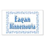 Eagan Minnesnowta Sticker (Rectangle 50 pk)