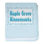 Maple Grove Minnesnowta baby blanket