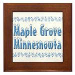 Maple Grove Minnesnowta Framed Tile