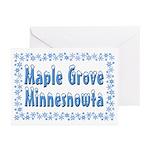 Maple Grove Minnesnowta Greeting Cards (Pk of 20)