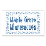 Maple Grove Minnesnowta Sticker (Rectangle)