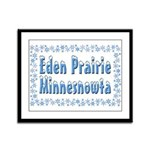 Eden Prairie Minnesnowta Framed Panel Print