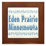 Eden Prairie Minnesnowta Framed Tile