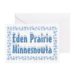 Eden Prairie Minnesnowta Greeting Cards (Pk of 20)