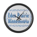 Eden Prairie Minnesnowta Large Wall Clock
