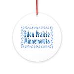 Eden Prairie Minnesnowta Ornament (Round)