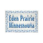 Eden Prairie Minnesnowta Rectangle Magnet