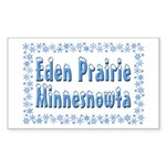 Eden Prairie Minnesnowta Sticker (Rectangle)