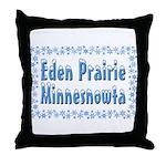 Eden Prairie Minnesnowta Throw Pillow