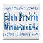 Eden Prairie Minnesnowta Tile Coaster