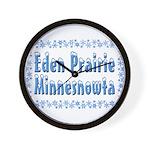 Eden Prairie Minnesnowta Wall Clock
