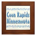 Coon Rapids Minnesnowta Framed Tile