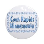 Coon Rapids Minnesnowta Ornament (Round)