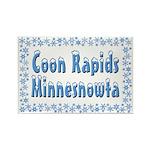 Coon Rapids Minnesnowta Rectangle Magnet (10 pack)