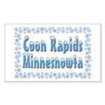 Coon Rapids Minnesnowta Sticker (Rectangle 10 pk)